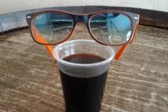 occhiali e vino