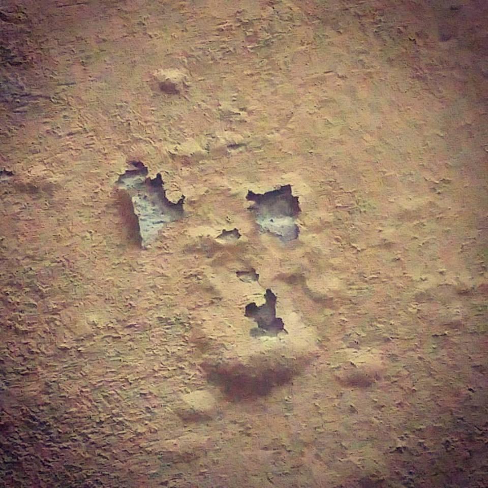 Uuu... Lo scheletro fantasma nel muro