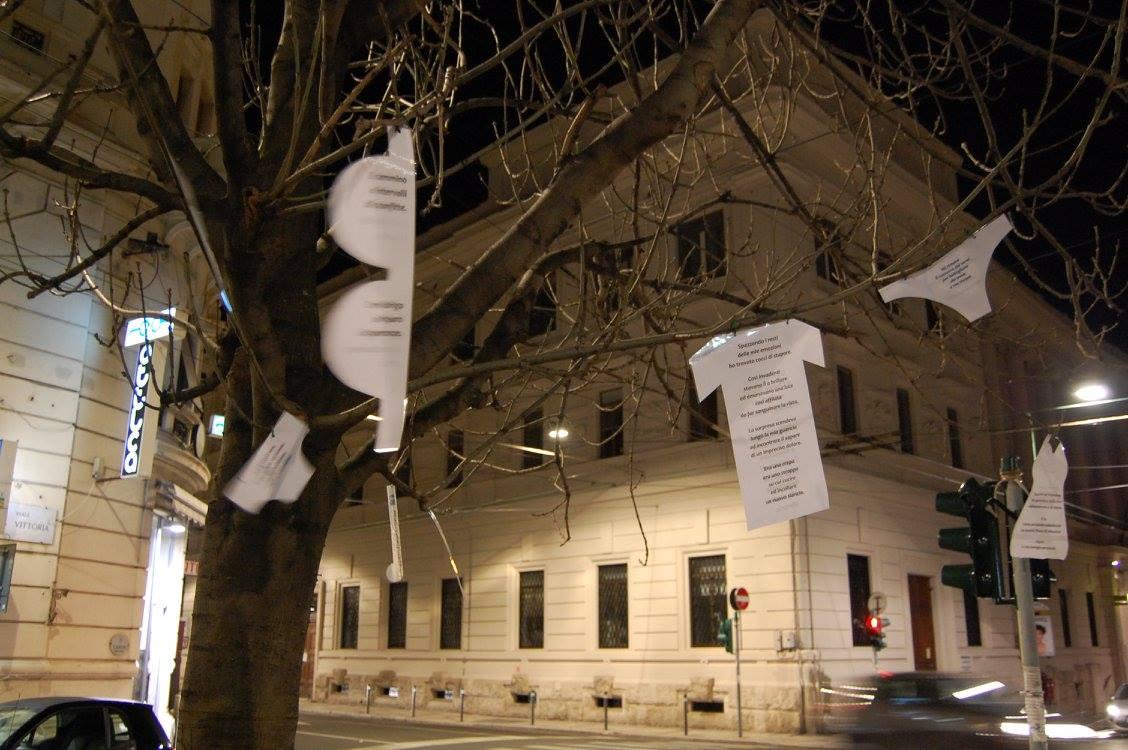 albero del bucato poetico di Ancona