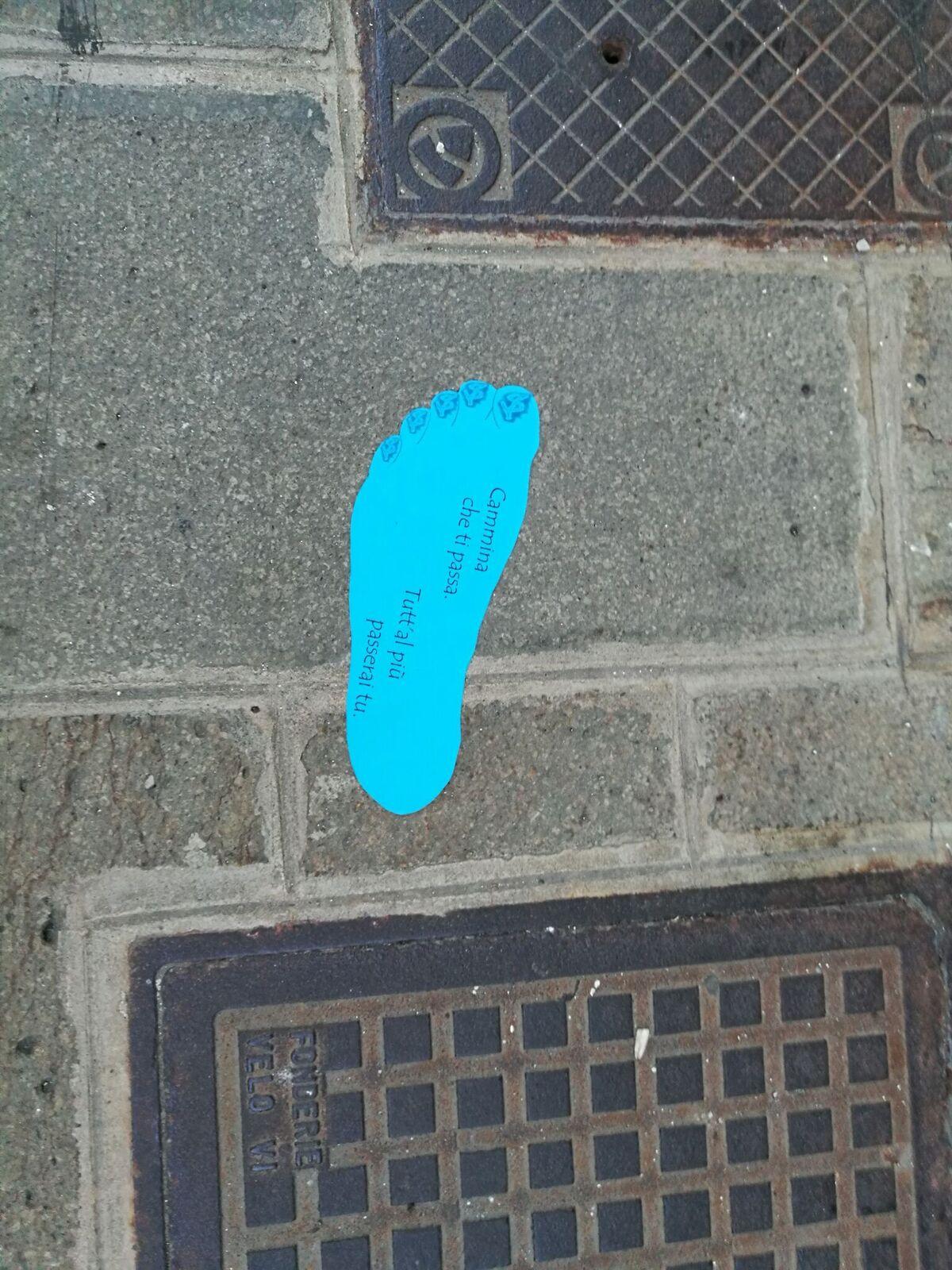 traccia blu
