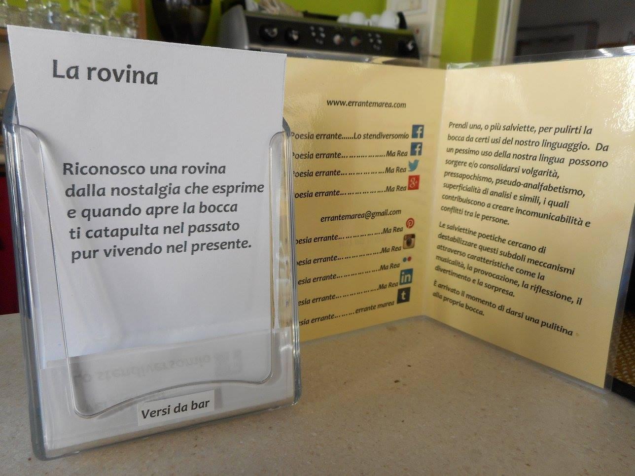 I Versi da bar della mostra estense