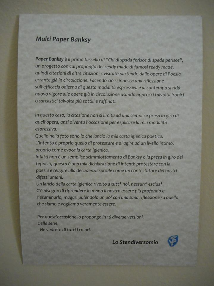 Multi Paper Banksy explication