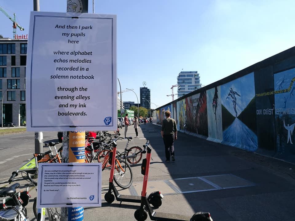 Il muro di Berlino e la sua fermata poetica